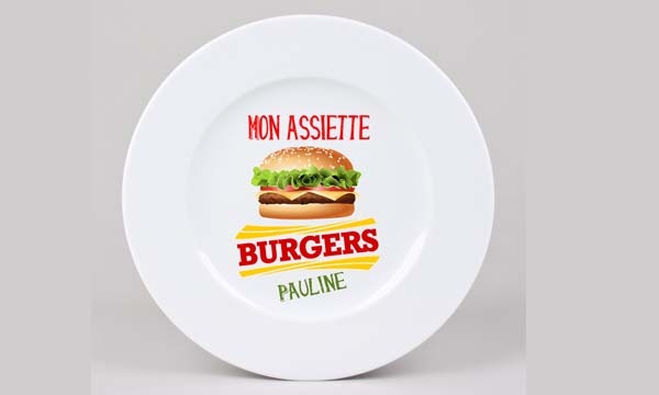 assiette hamburger