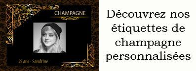etiquette champagne personnalisee